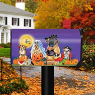 Dogs Halloween Magnetic Mailbox Cover.jp
