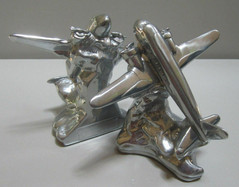 DC-3 Airplane bookends art deco polished