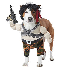 Rambo Action Hero Dog Pet Funny Costume.