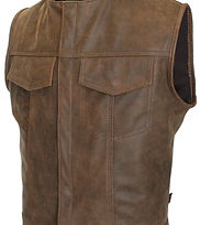 Mens Made in USA Brown Vintage Leather S