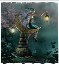 Little Pixie Lantern Sitting Moon Stone,