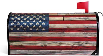 Flag Magnetic Mailbox Cover, 4th of July