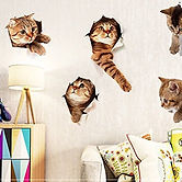 Cute Animal Wall Sticker mural for Kids.