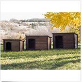 Dog House Cabin Pet Log Wood Outdoor She