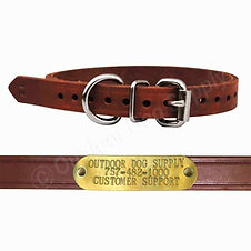 Leather D Ring Dog Collar Strap & Custom