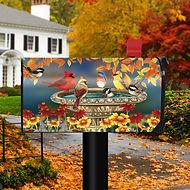 Fall Birdbath Magnetic Mailbox Cover Car