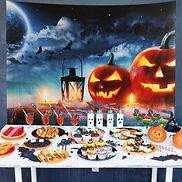 Bat pumpkin lantern Starry Background.jp