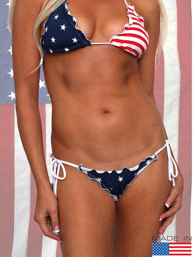 WOMEN'S JUNIORS SEXY USA FLAG SWIMWEAR R
