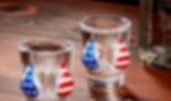 Bikini  American Flag Shot Glasses Set..
