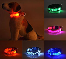 RECHARGEABLE CAMO LED PET DOG GLOW COLLA
