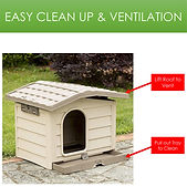Bama Pet Bungalow Dog House with Removab