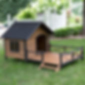 Lodge Dog House with Spacious Deck Porch