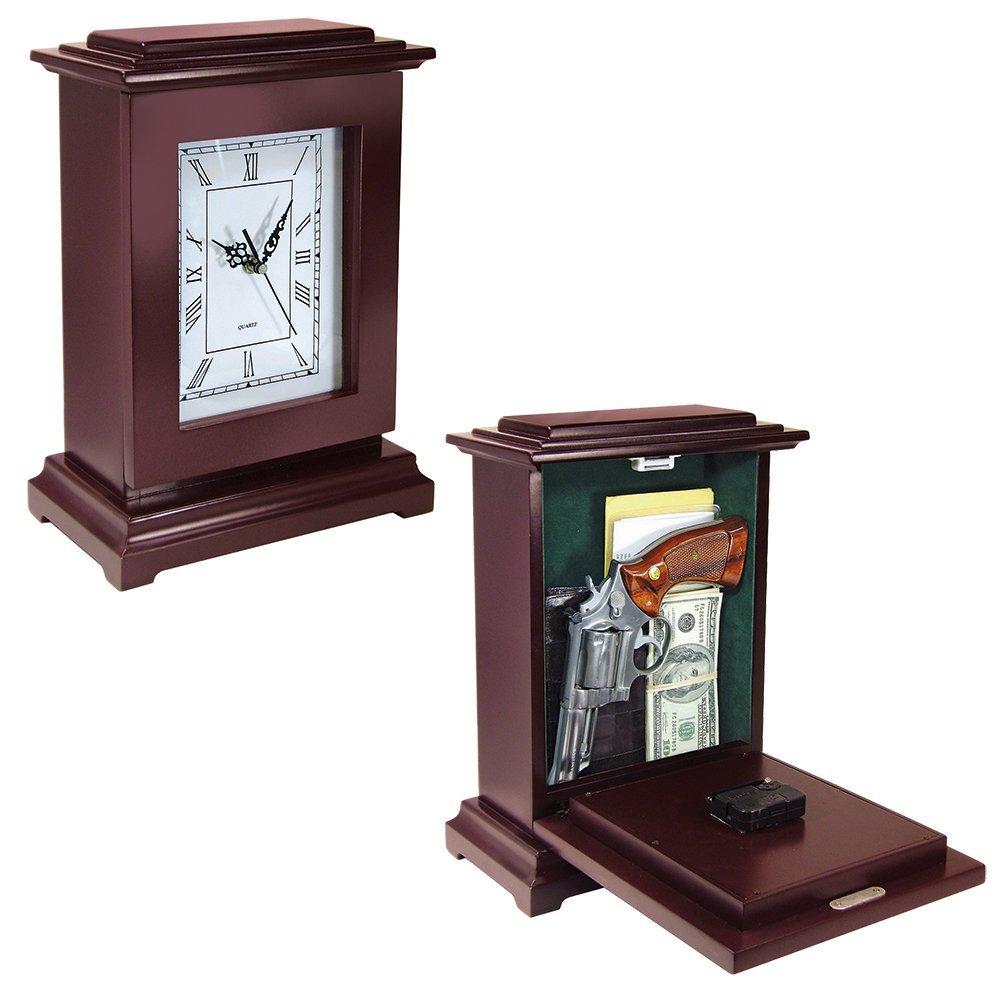 Peace Keeper Tall Rectangular Working Clock Gun Concealment Diversion Safe