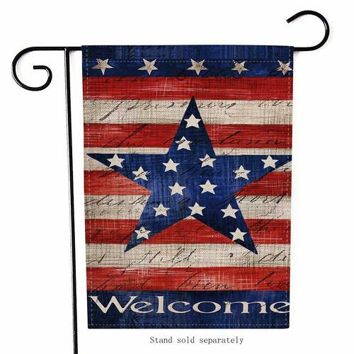 4th of July Patriotic Star Garden Flag D