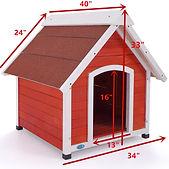 Large Dog House Solid Wood Outside A-Fra