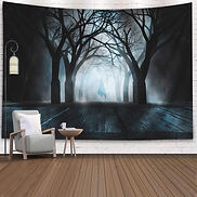 Fog Ghost Shadow Dead Trees Wooden Table
