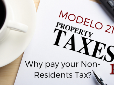 Why should I complete Modelo 210 and pay non-residents tax?