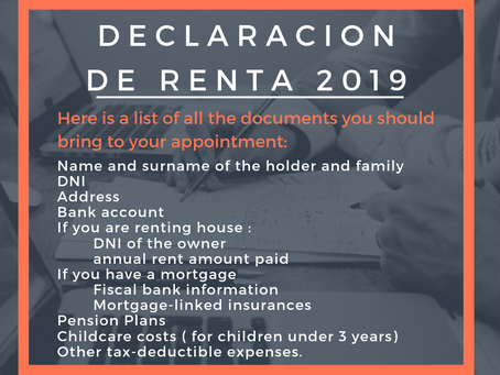 Declaracion de Renta - what you need to bring to your appointment