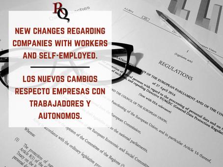 el resumen con los nuevos cambios respecto empresas con trabajadores y autónomos.