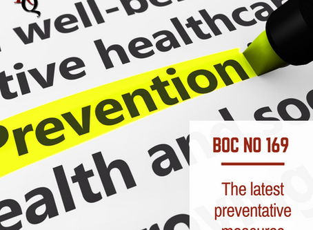The Latest preventative measures in BOC - No169 dated 21/08/20