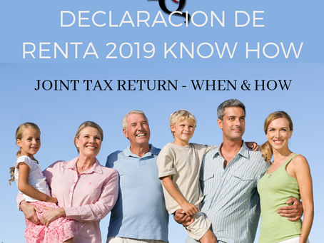 JOINT TAX RETURN - WHEN & HOW