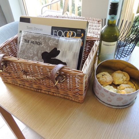 Welcome Information and home made cakes and wine for guests staying 3 nights or more