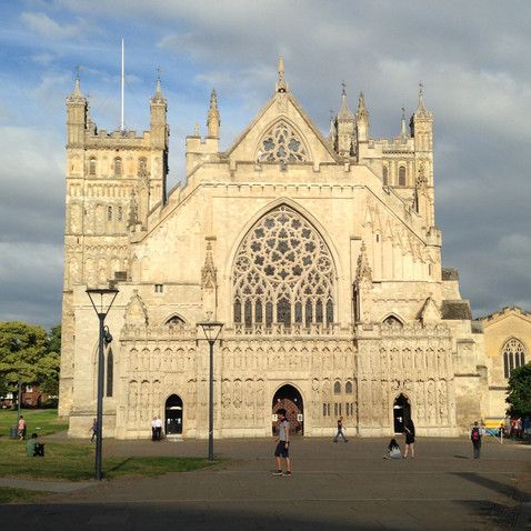 Exeter Cathedral - 15 mins drive away