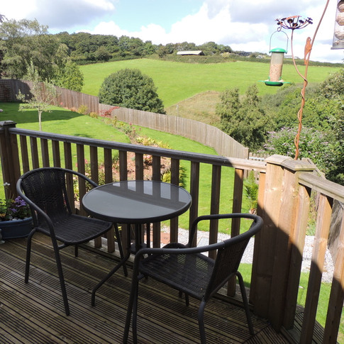 View of the surrounding farmland from your own private deck. BBQ provided.