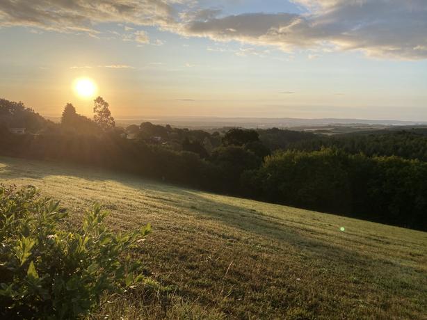 Summer sunrise in Longdown