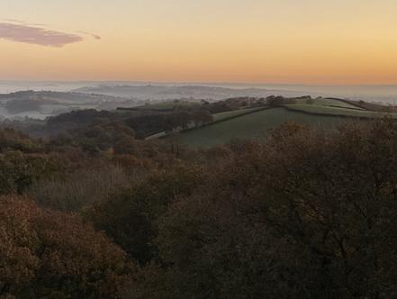 Autumnal sunrise over Exeter