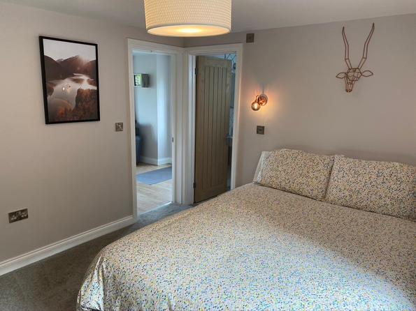 Comfy, light bedroom