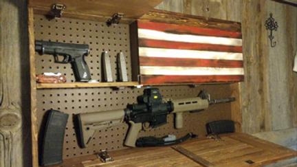 Concealment Flag Cabinet