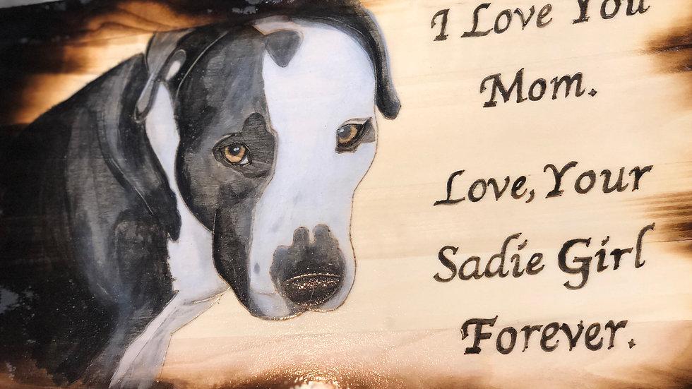 Pet Stain art and Memorabilia Plaque