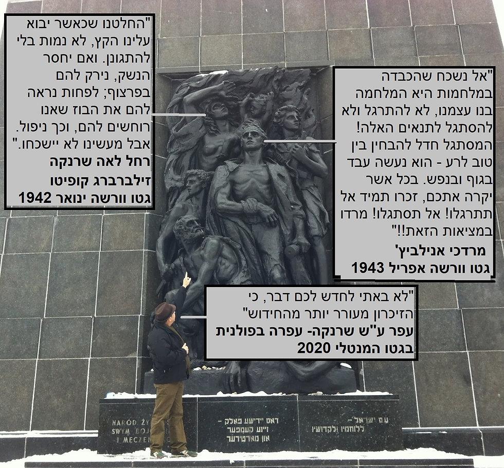 3 אנדרטה בוורשה יד שמאל פסל בדמיי חיי  ע