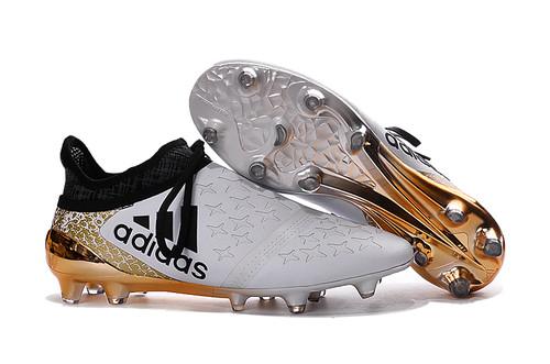 d50767854f Adidas X 16+ Purechaos FG AG Branca Dourada