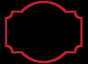 Red frame design around text