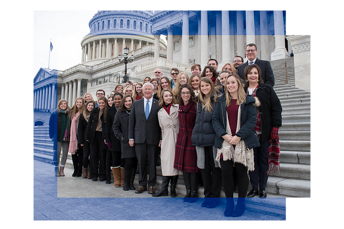 Group photo on US Capitol steps