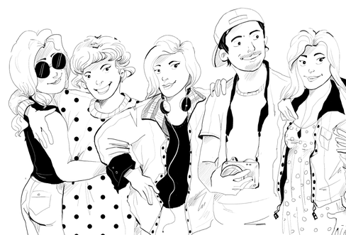Illustration for Sneaky Magazine