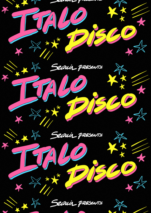 Sequin Italo Disco Poster (2017)
