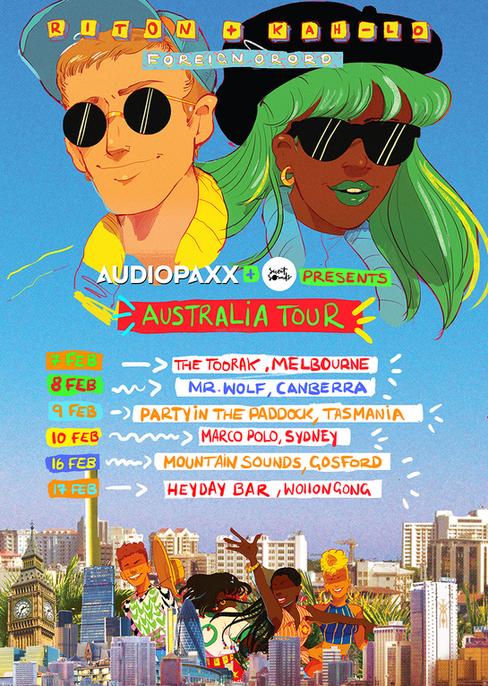 Riton + Kah-Lo Tour Poster (2018)
