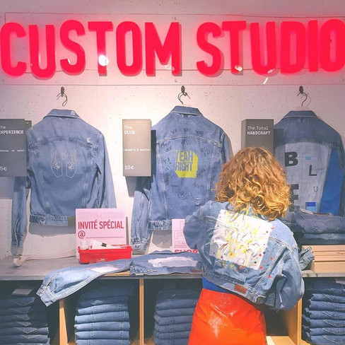 Custom painted jacket for Pepe Jeans London