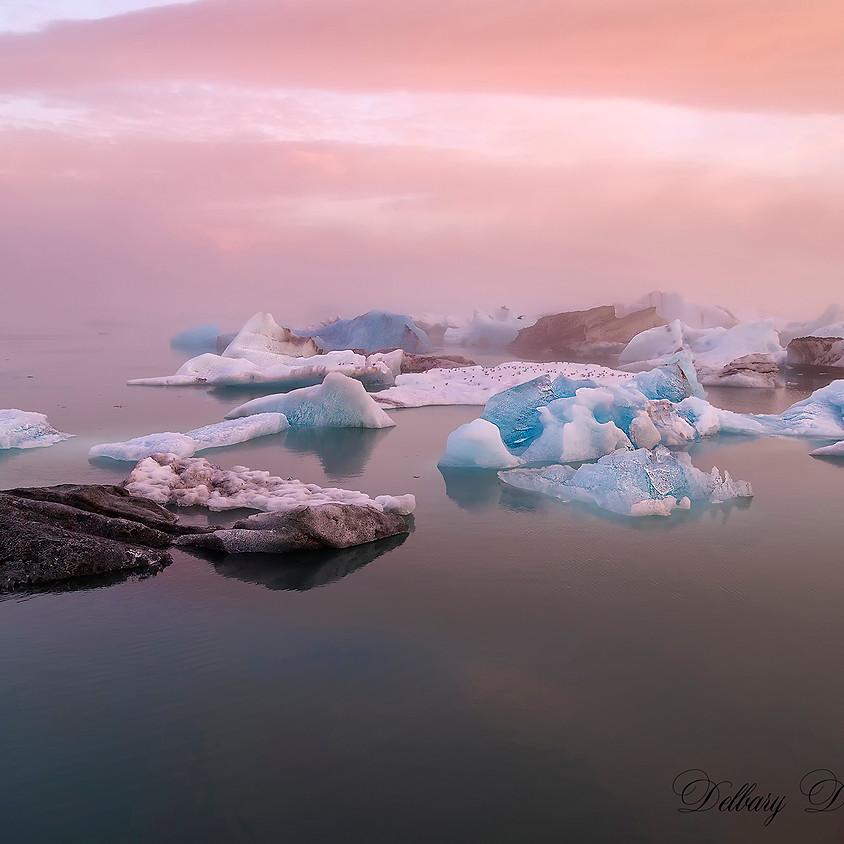 Soleil d'été en Islande.