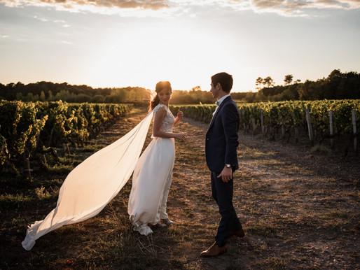 Une séance couple tant attendue dans les vignes bordelaises