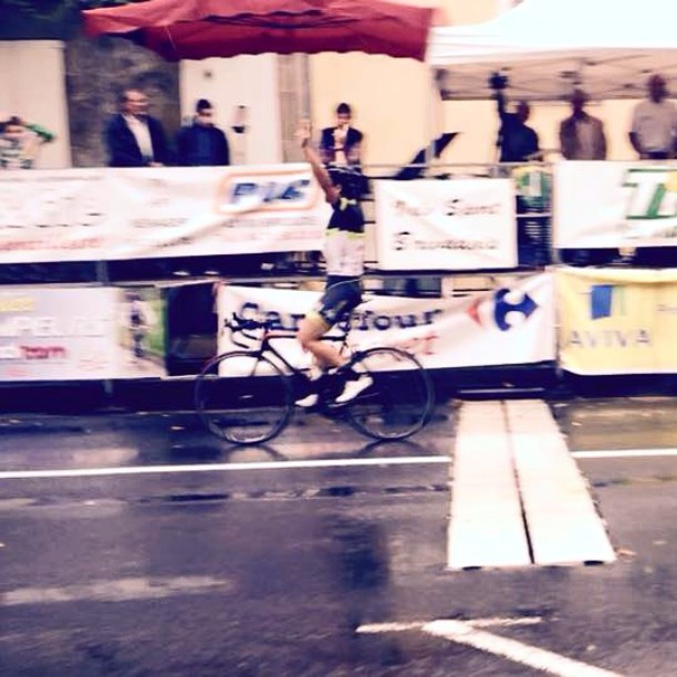 Seb wins in the rain in France!  #inspiredToRide #CMILifestyle #loveIt #instadaily #instagood #igers #international #cycling #bike #bikelove