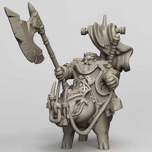 Dwarf lord on warboar