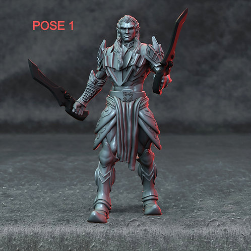 Drow male (2 poses)