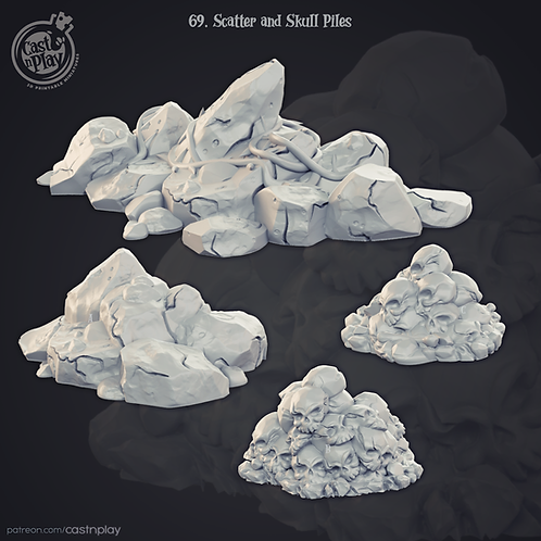 scatter and skull piles