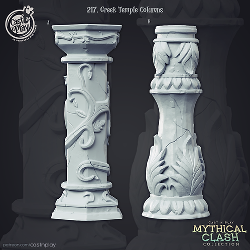 Greek temple column set