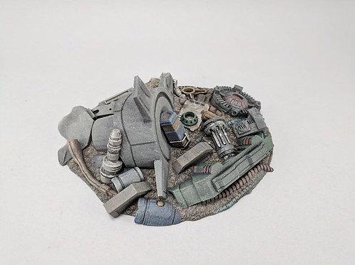 Spaceport scrap pile
