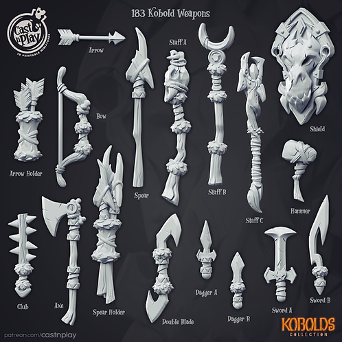 Kobold weapons pack